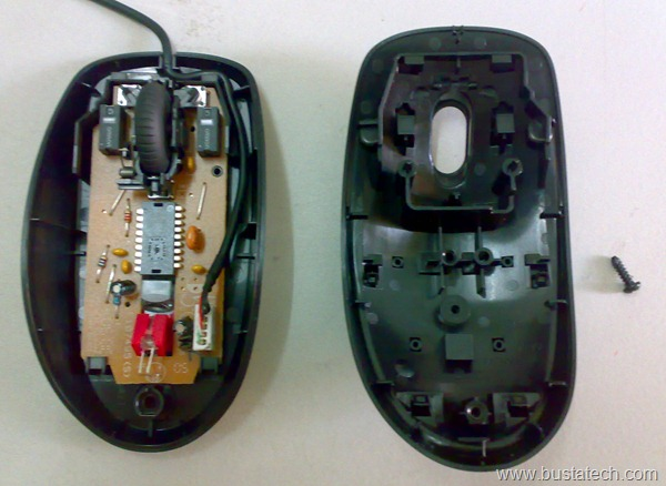 Inside of Logitech M100