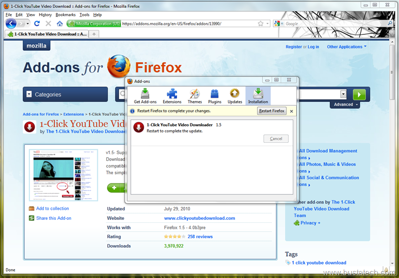 youtube video download mozilla firefox add on